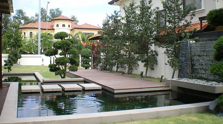 Maxly landscape sdn bhd landscape service provider in for Garden pond design malaysia
